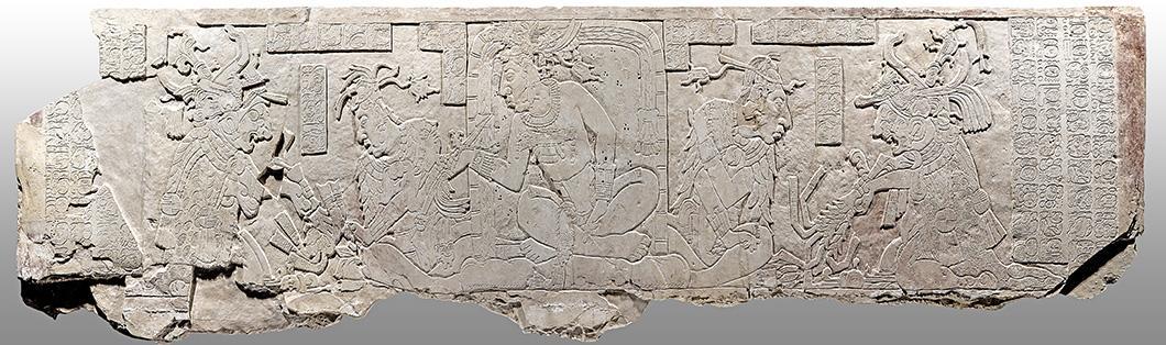 Panneau de hiéroglyphes mayas