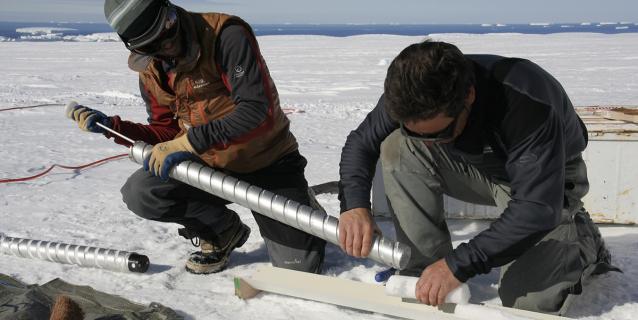 Carottage de glace en Antarctique