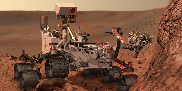 Analyse de la composition des roches sur la planète Mars par l'instrument ChemCam