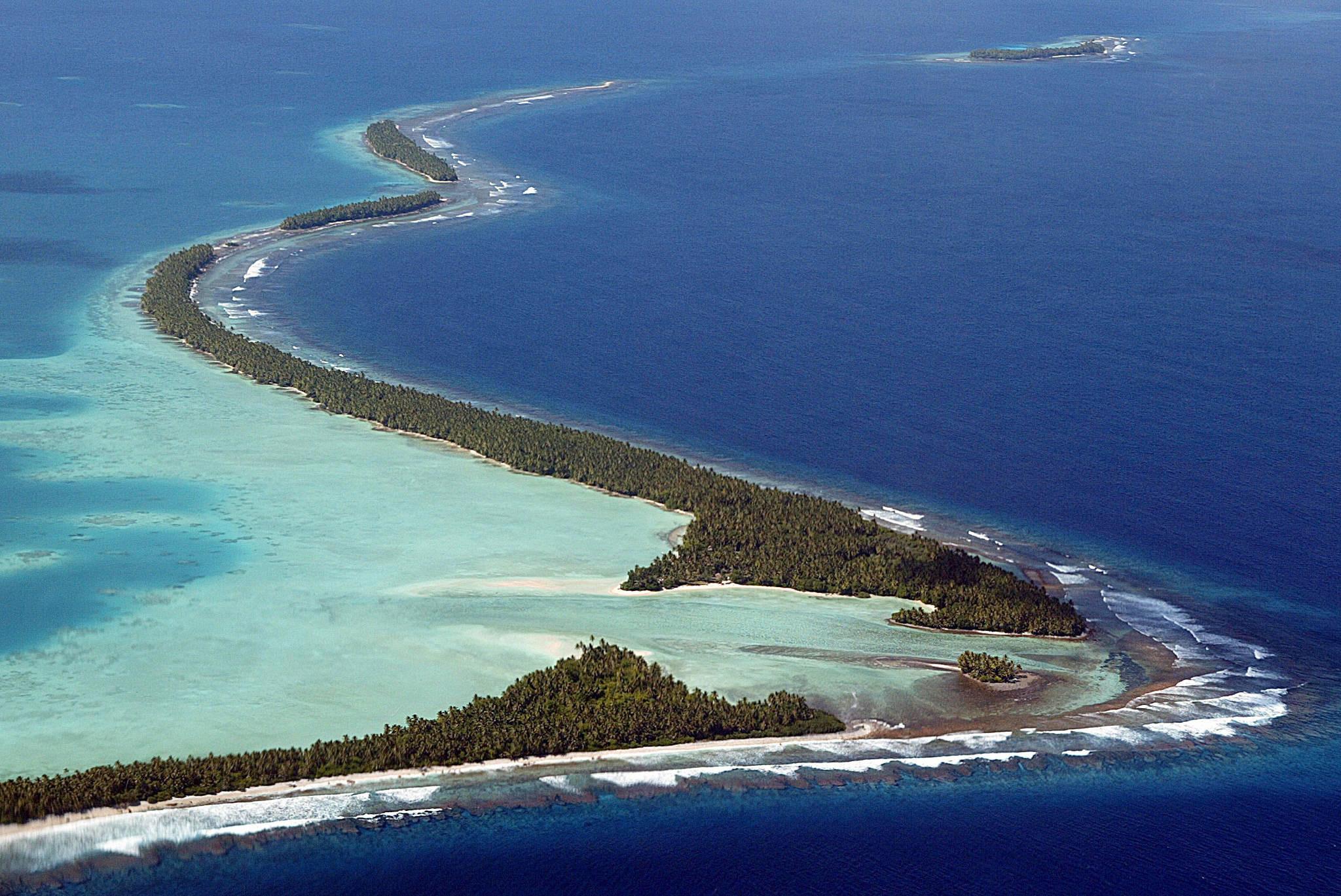Atoll de Funafuti dans le Pacifique.