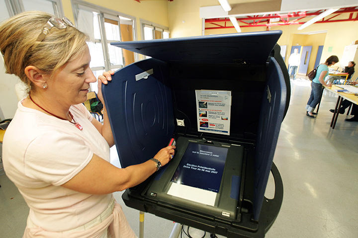 Vote électronique, France 2007