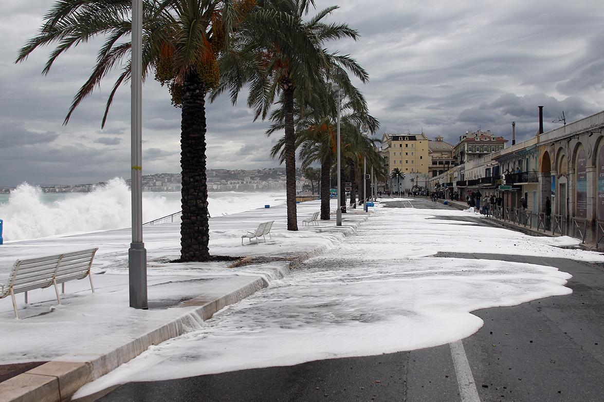 Tempête à Nice en 2011