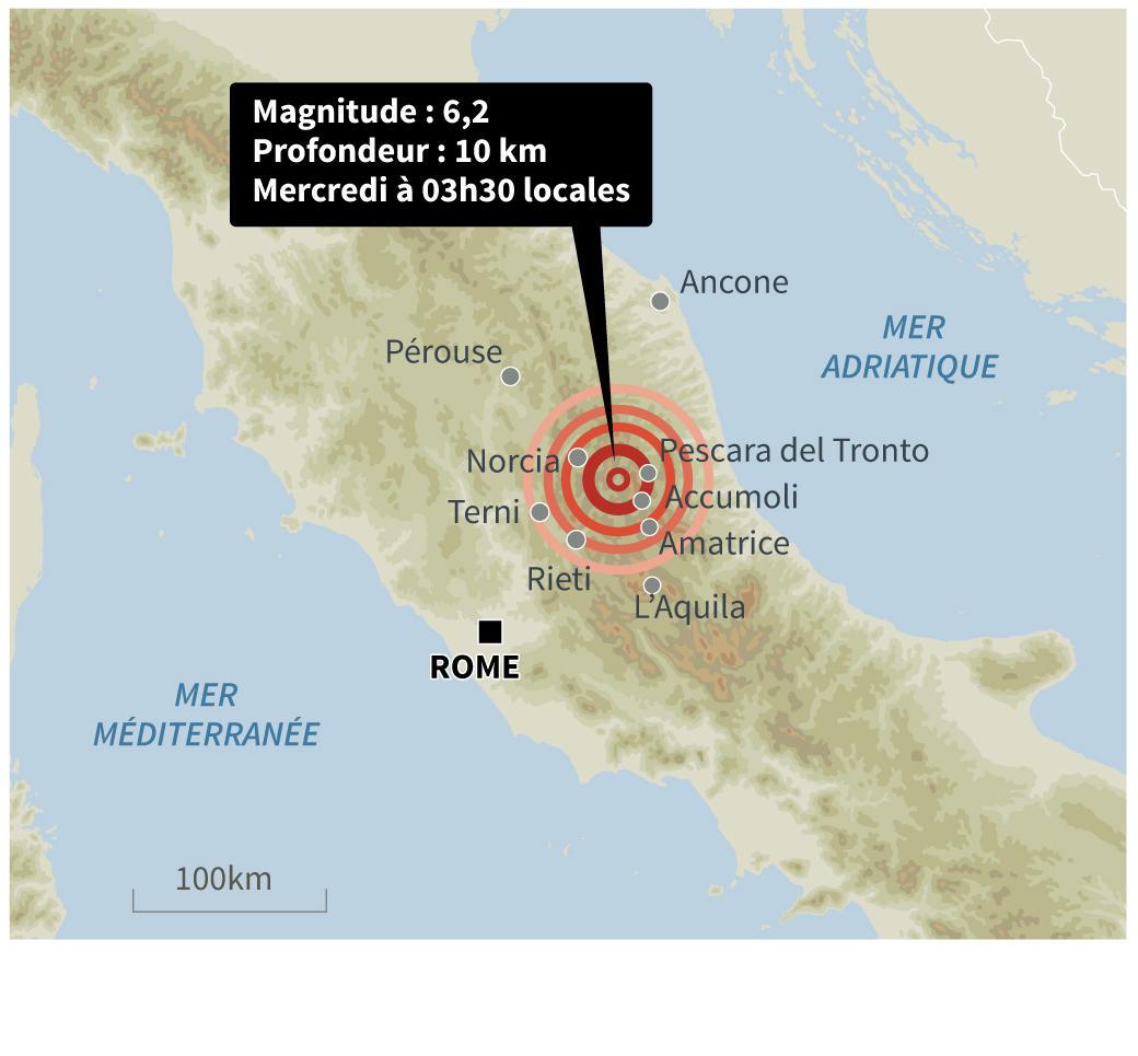 Pourquoi la terre tremble t elle en Italie ? | CNRS Le journal