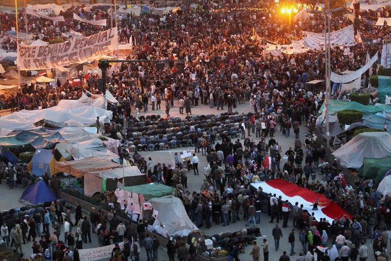 Printemps arabe, Place Tahrir, Egypte