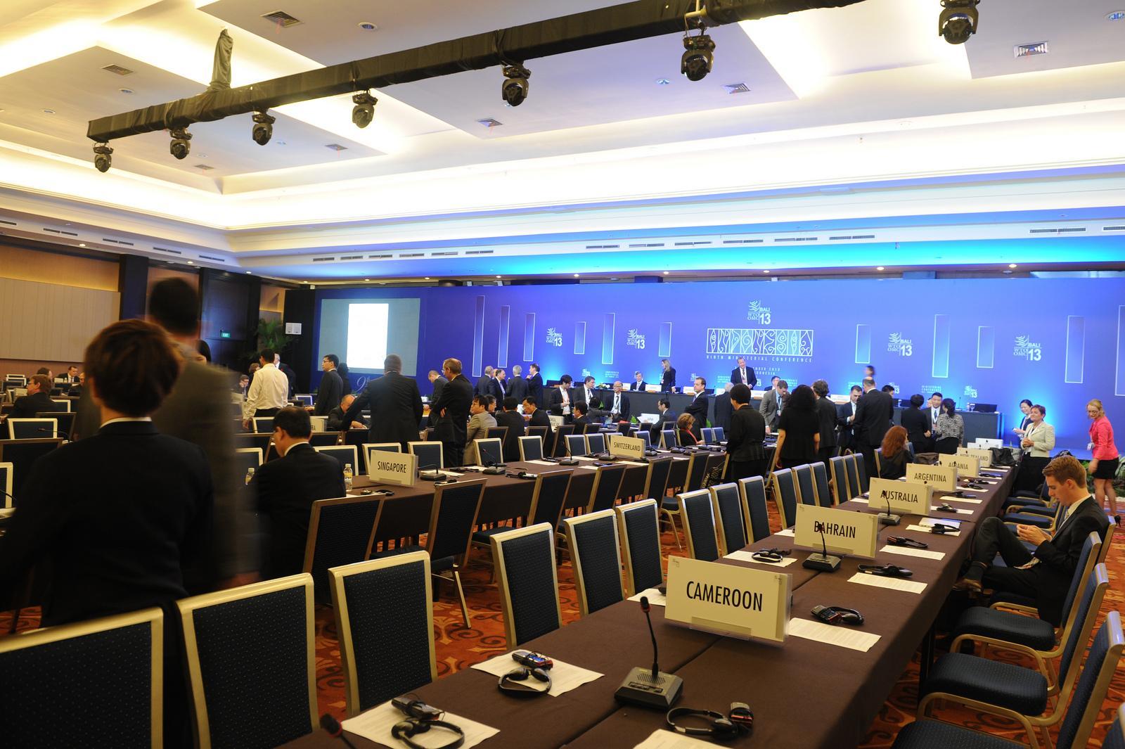 Conférence à l'Organisation mondiale du commerce