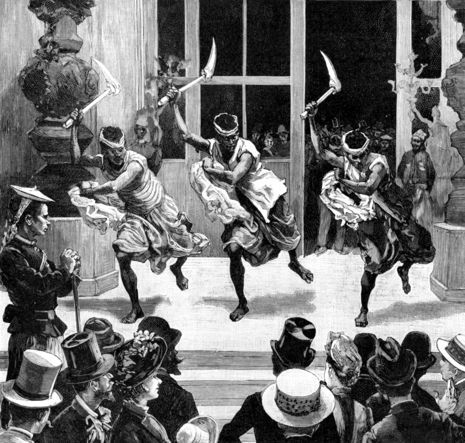 Danse kanake, Exposition universelle de 1889, Paris