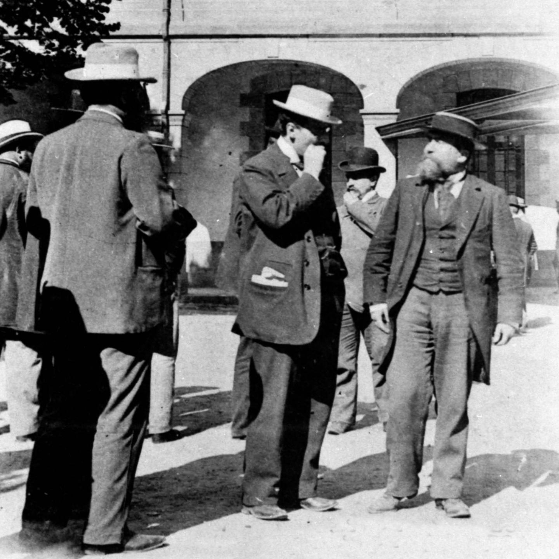 Jean-Jaurès au procès de Rennes en 1899.