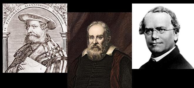 Ptolémée, Galilée, Mendel