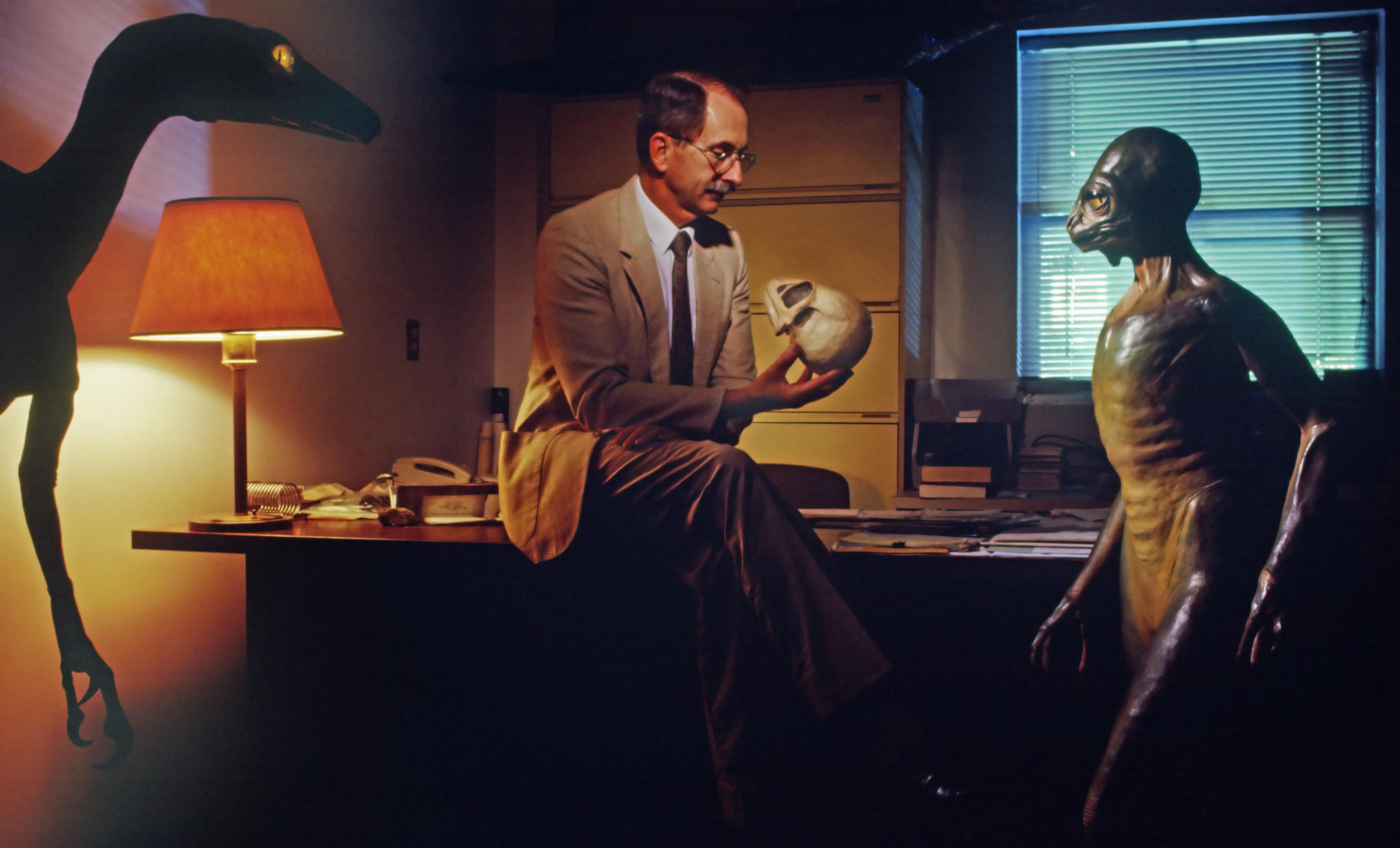 Dale Russell et son Troodon