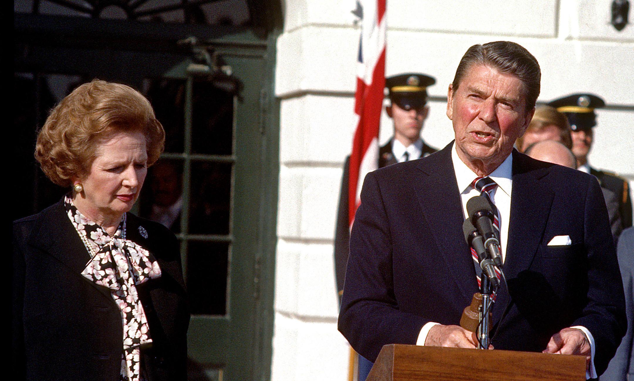 Rencontre entre Margaret Thatcher et Ronald Reagan