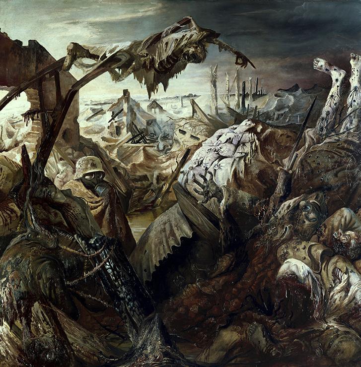 La Guerre, triptyque réalisé par Otto Dix