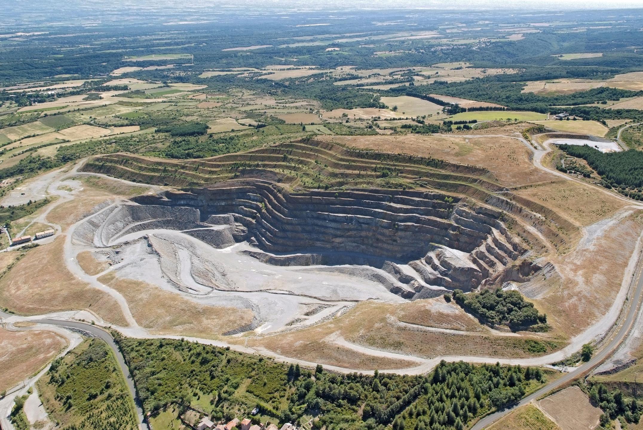 La mine d'or de Salsigne.