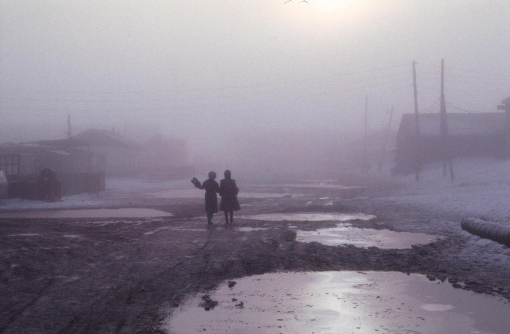 Dégel dans un village du Grand nord sibérien