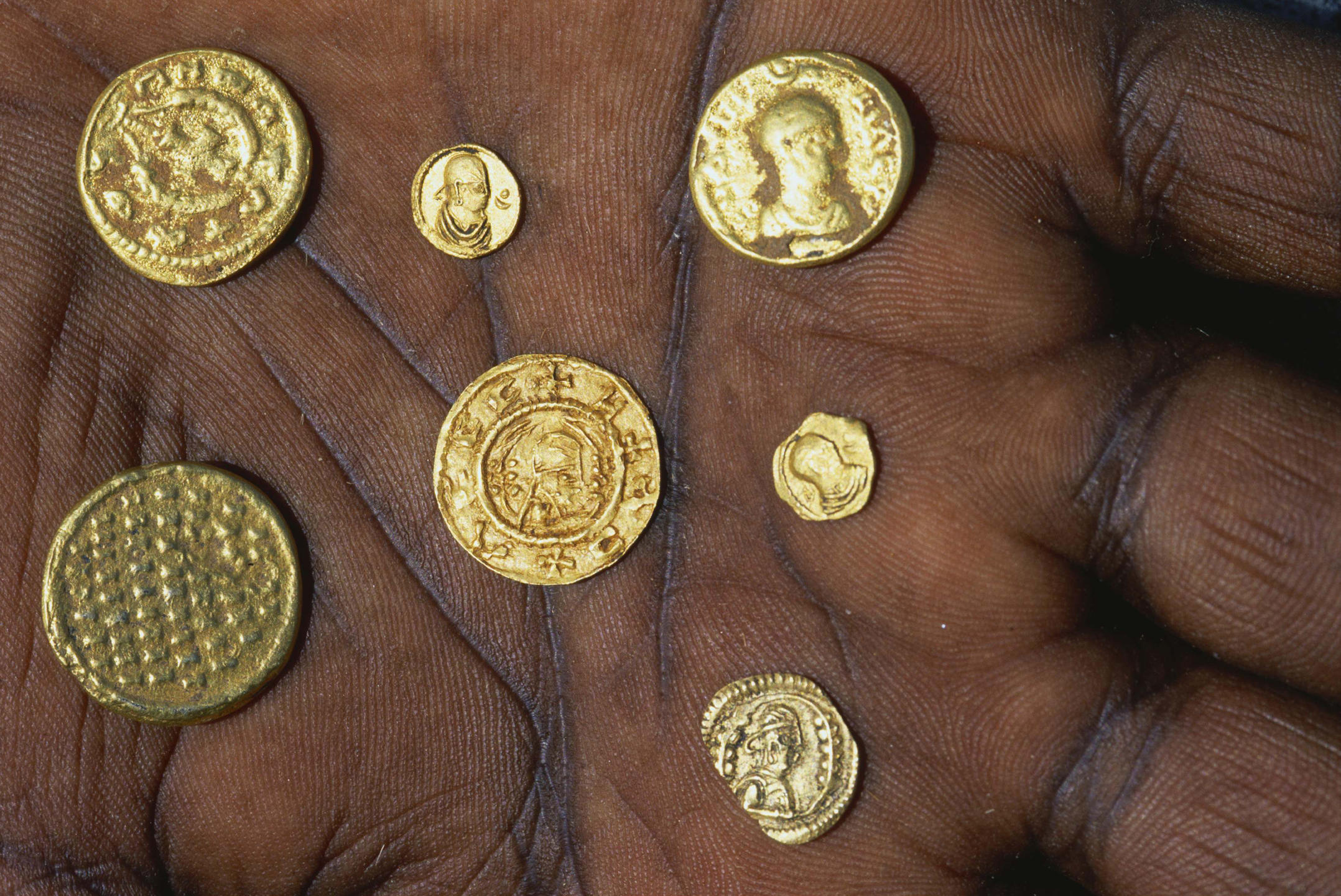 Pièces d'or du royaume d'Aksoum