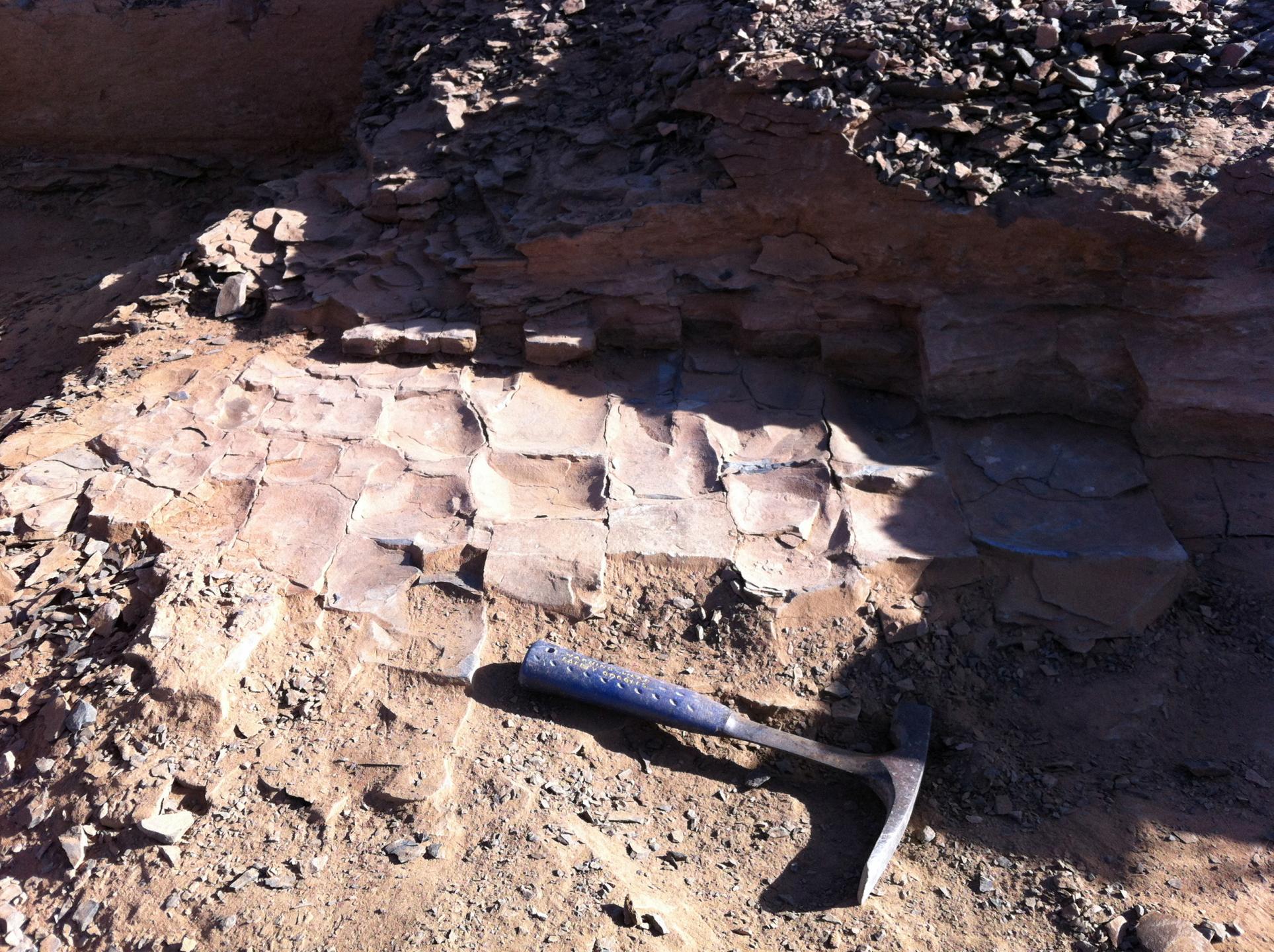 Figures de houle sur le site de fouilles Bou Izargane