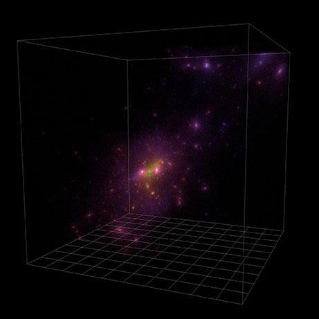 Simulation de l'Univers dans le cadre du projet Deus