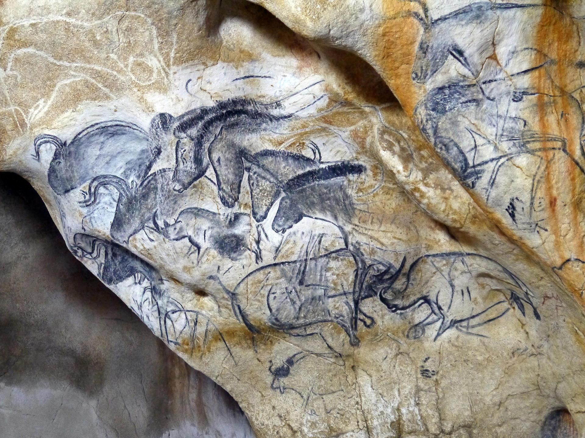 Le panneau des chevaux de la caverne du pont d'Arc