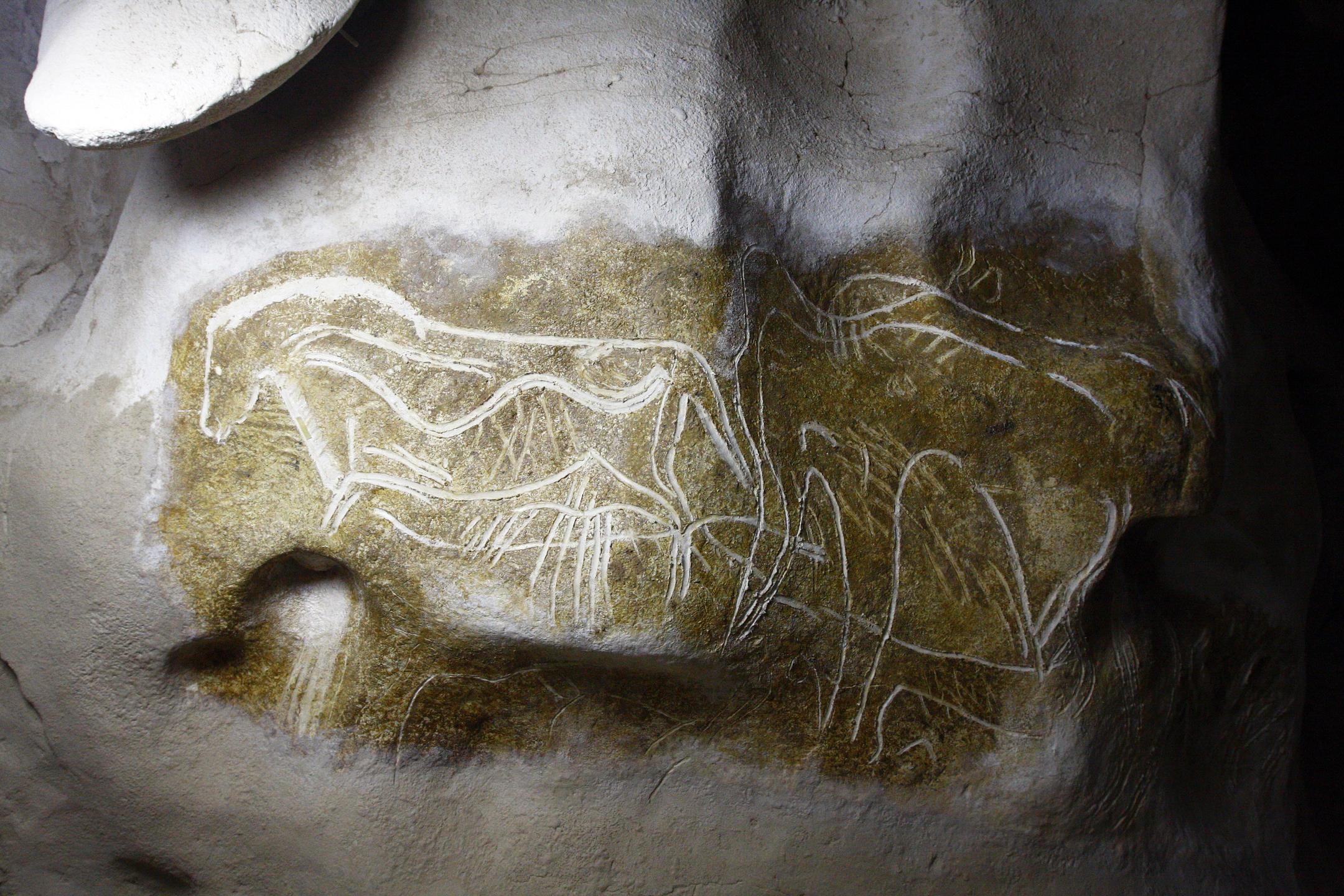 Panneau du cheval gravé