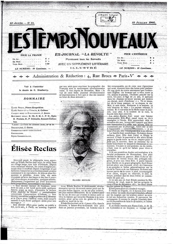 Journal anarchiste « Les Temps nouveaux »