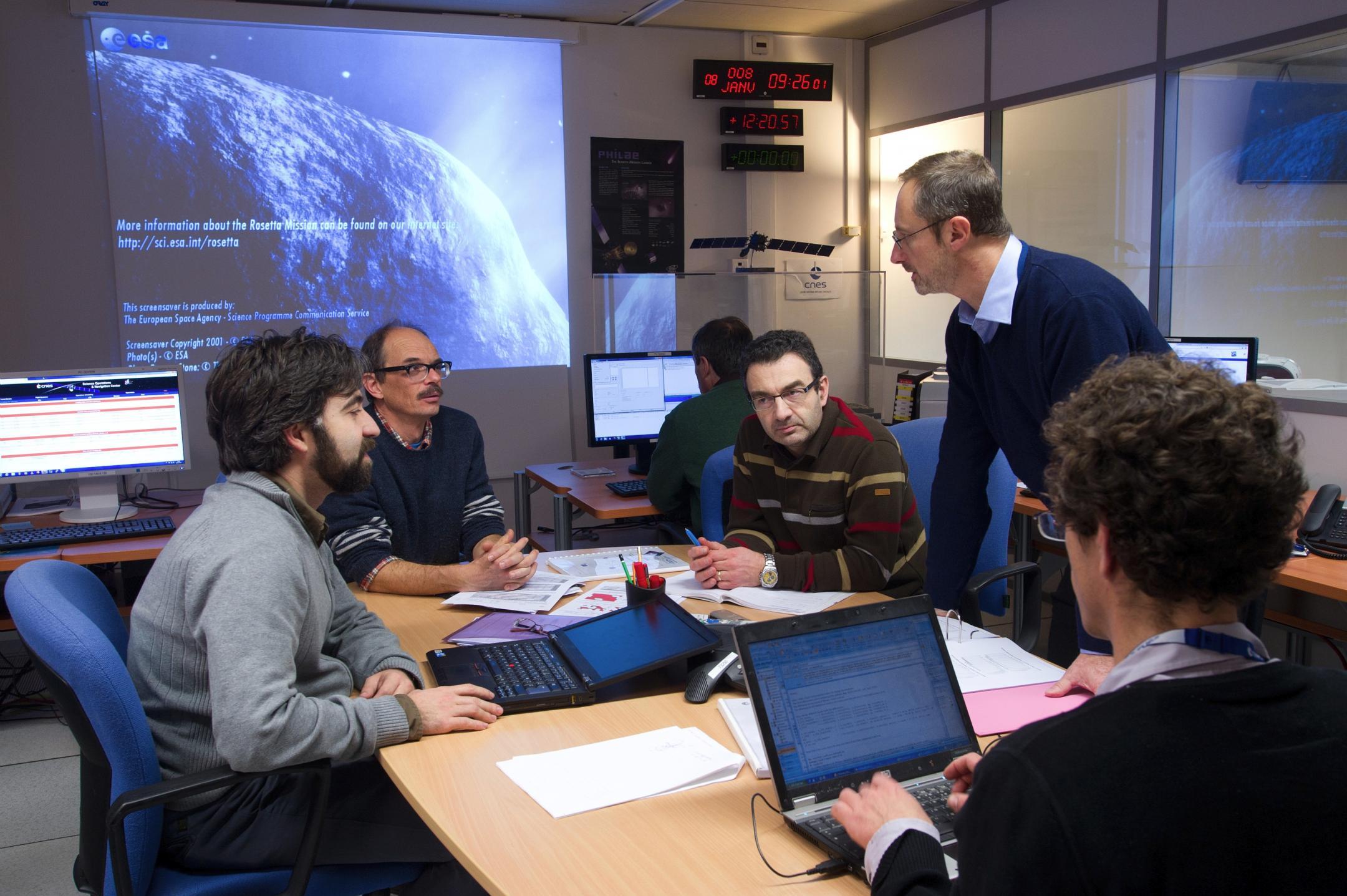 Le Sonc, le centre de mission scientifique de Philae, au Cnes, à Toulouse