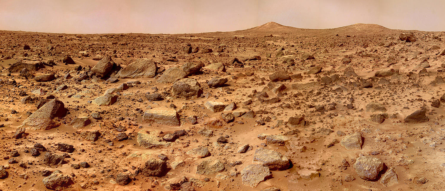Vue panoramique, Mars Pathfinder