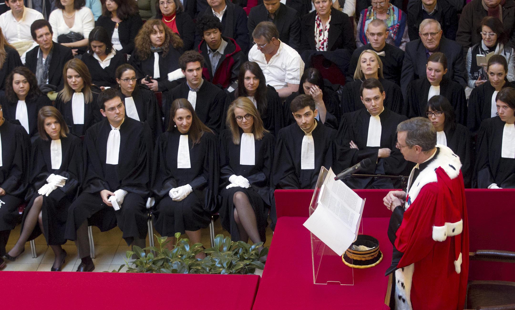 Serment des avocats devant la cour d'appel de Colmar.