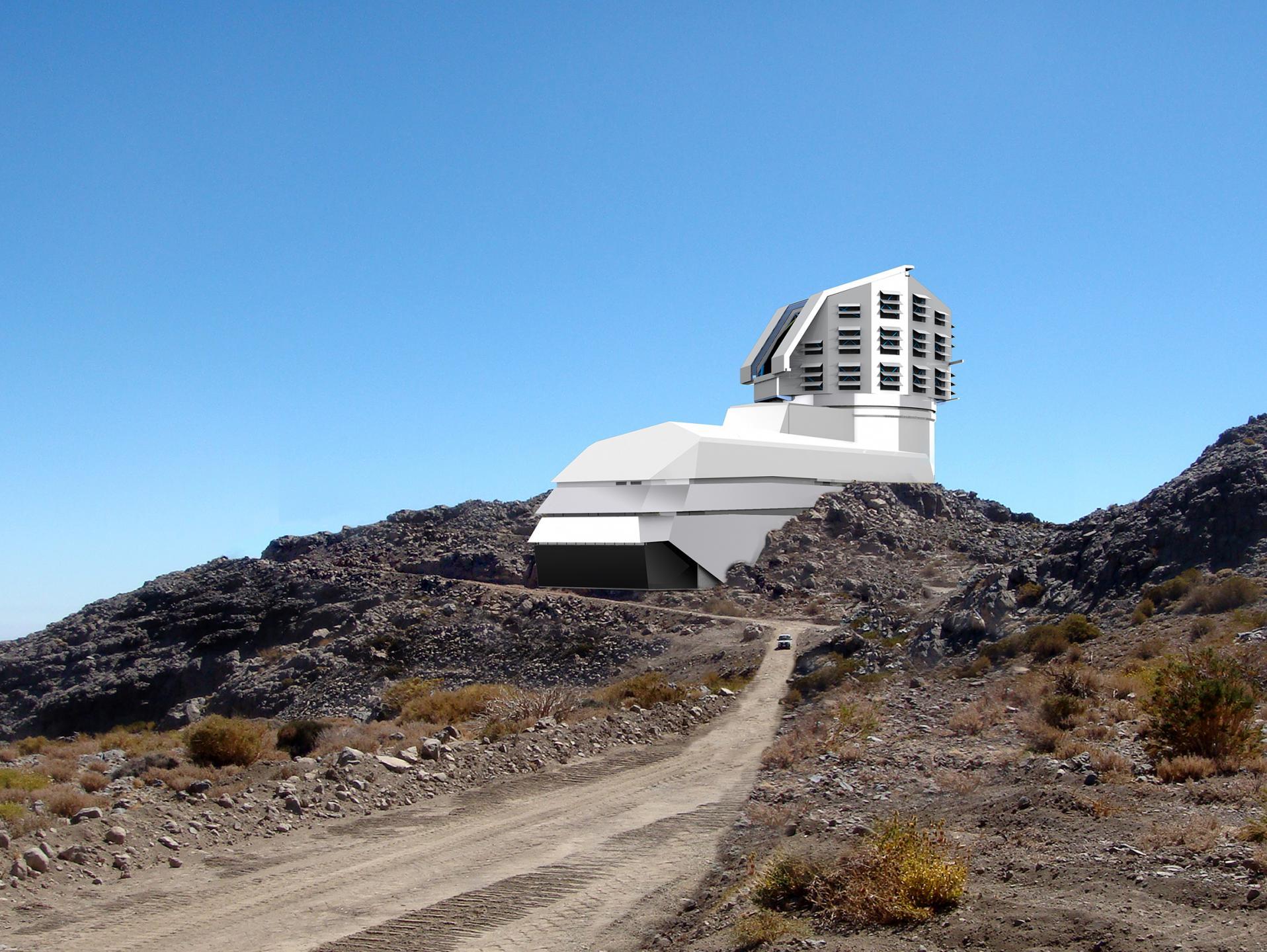 Vue d'artiste du futur téléscope LSST
