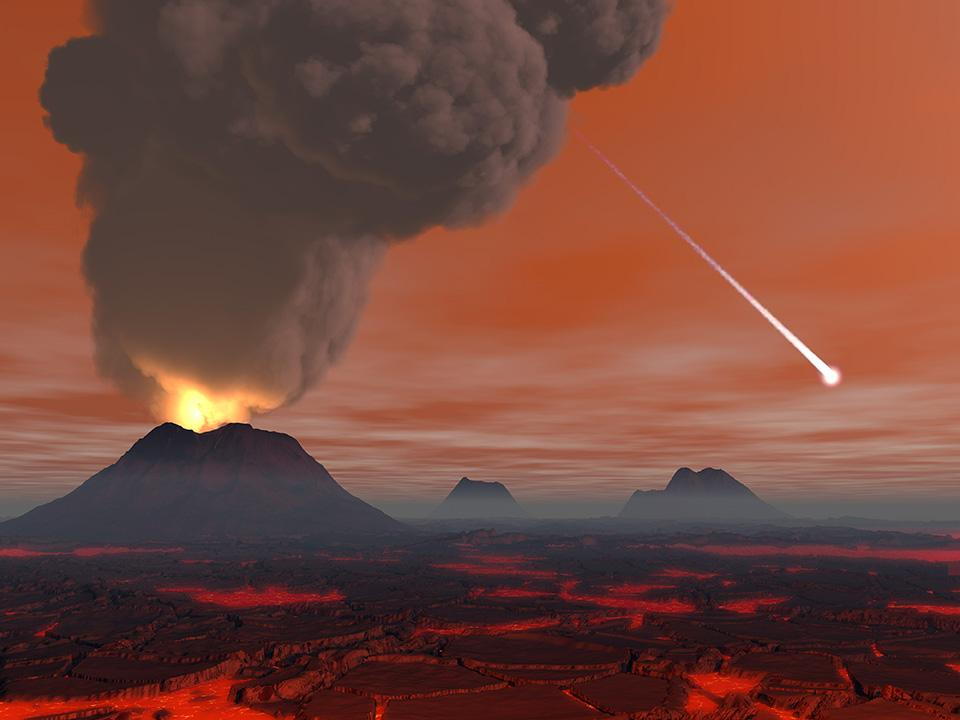 Vue d'artiste de la Terre il y a 500 millions d'années.