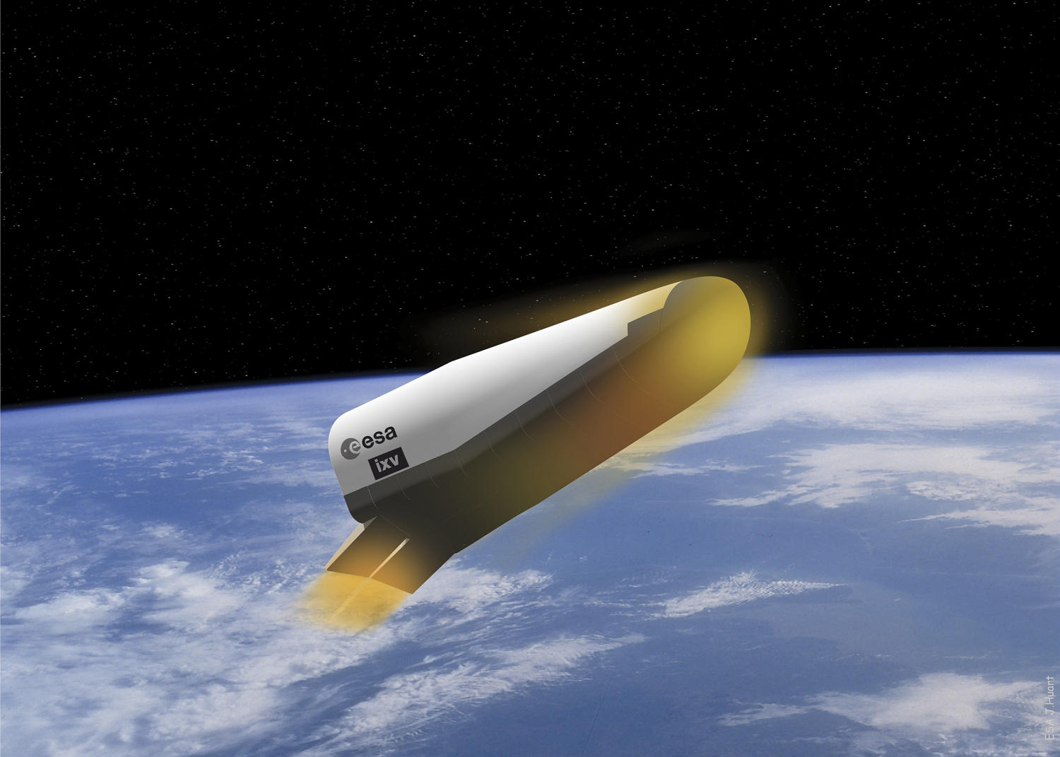 Vue d'artiste de l'IXV (Intermediate eXperimental Vehicle)