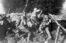 combat dans les tranchées