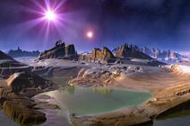 Paysage sur une planète imaginaire