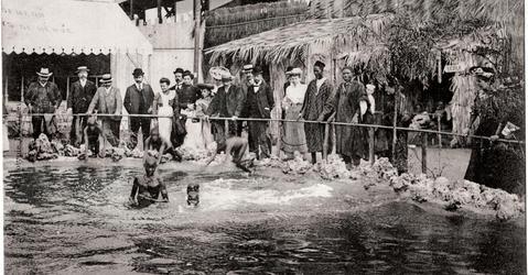 Zoo humain, village sénégalais, Exposition universelle de Liège