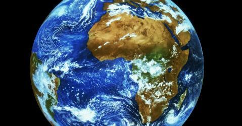 Vue de la planète Terre.