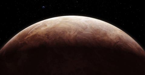Image d'artiste de la surface de Venus