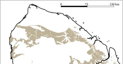 Carte de la fameuse formation greenstone, propice à la présence de filons aurifères.