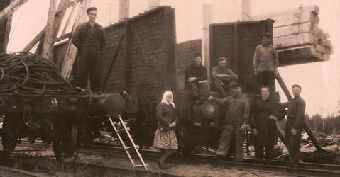 Goulag, embarquement de bois