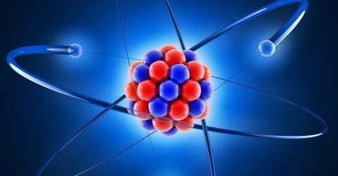 Reconstitution en 3D du noyau d'un atome