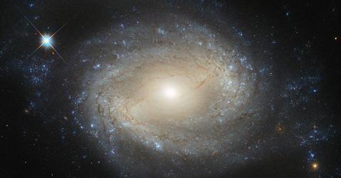 Une photo de galaxie