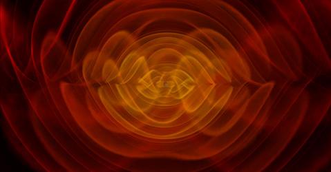 Simulation d'une onde gravitationnelle