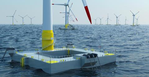 Eolien offshore flottant