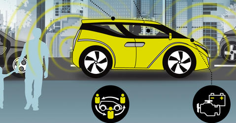 infographie voiture du futur