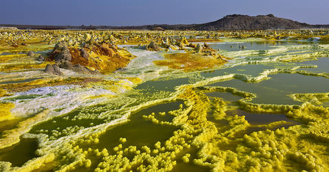 Dallol, formations hydrothermales
