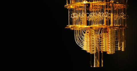 Réfrigérateur à dilution de l'ordinateur quantique IBM Q
