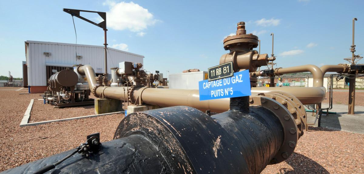 Exploitation du gaz de mine à Avion, près de Lens