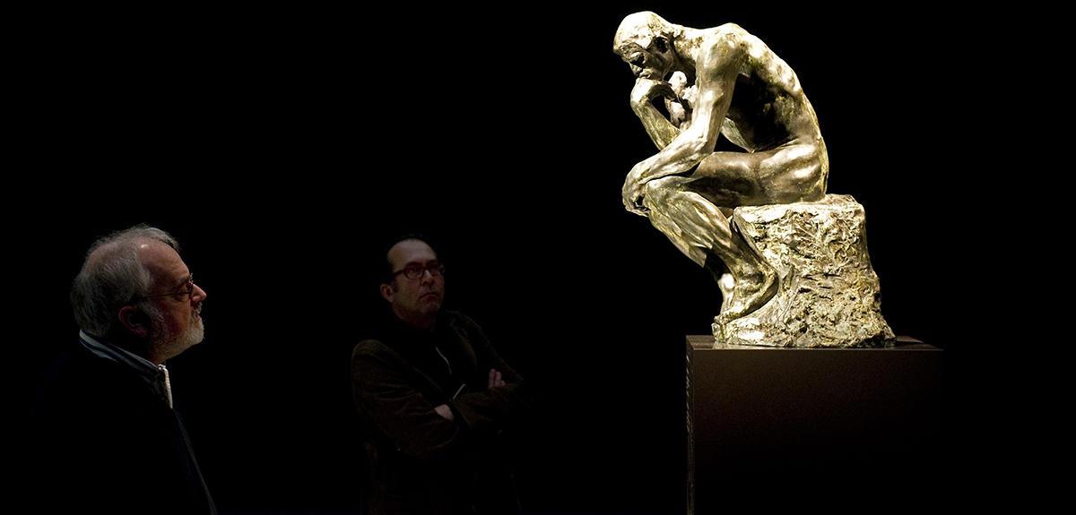 Le penseur de Rodin (musée Singer, à Laren, aux Pays-Bas).