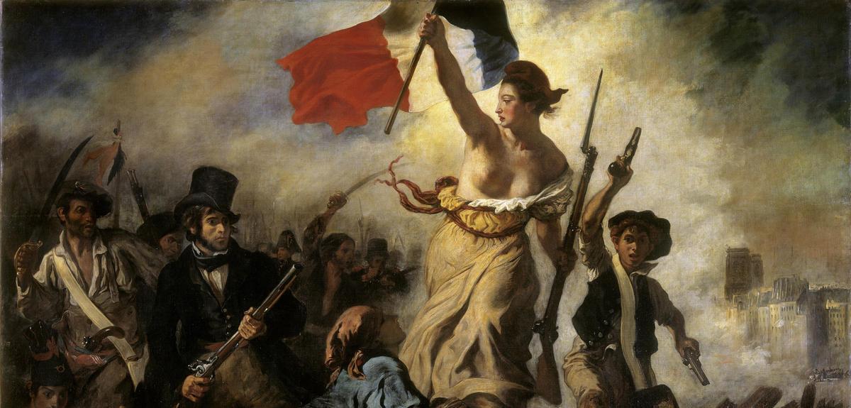 """""""La liberté guidant le peuple"""", 1830"""