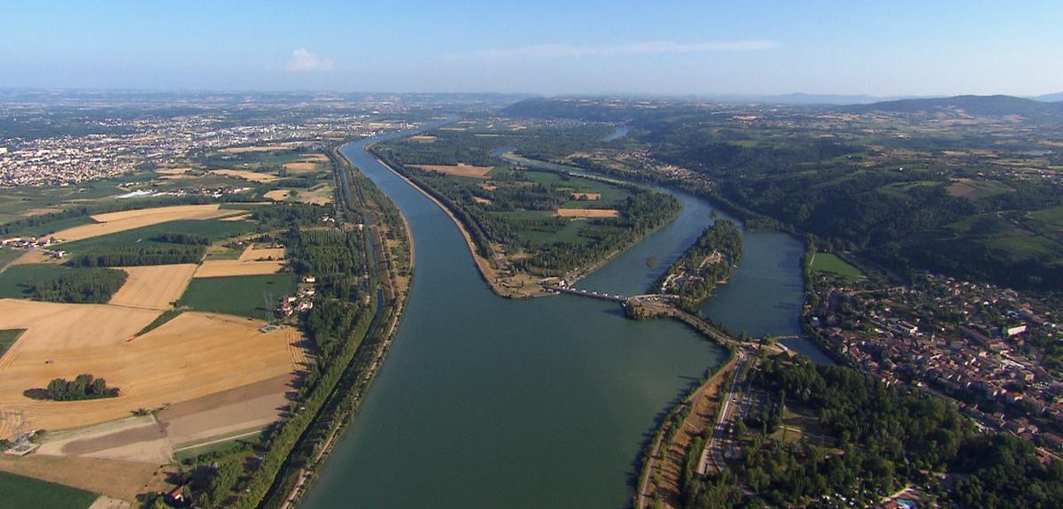 Le Rhône, vue aérienne
