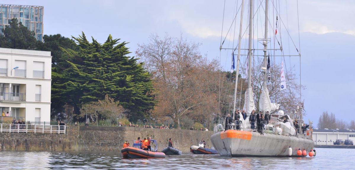 Arrivée de Tara au port de Lorient