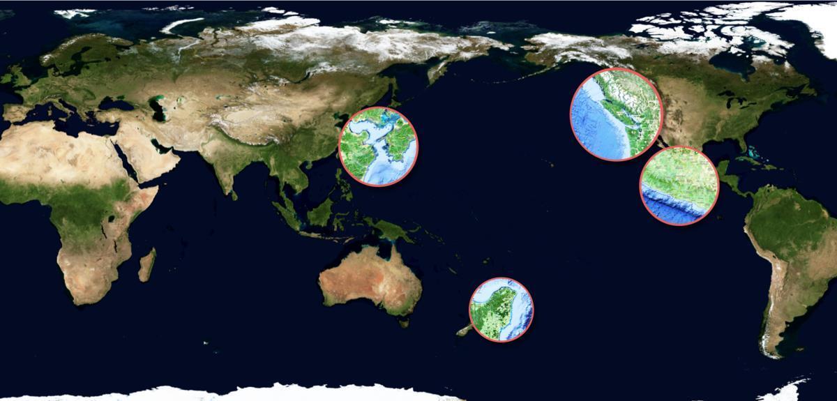 Carte satellite des séismes lents