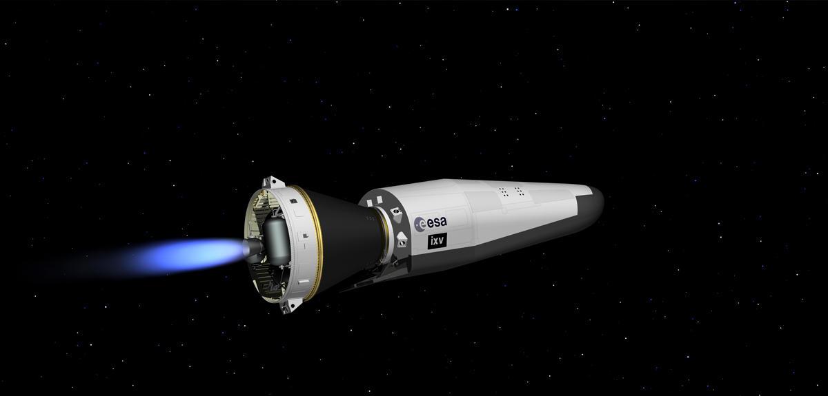 Le véhicule IXV en vol suborbital